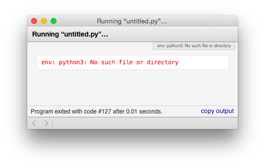 TextMate path error